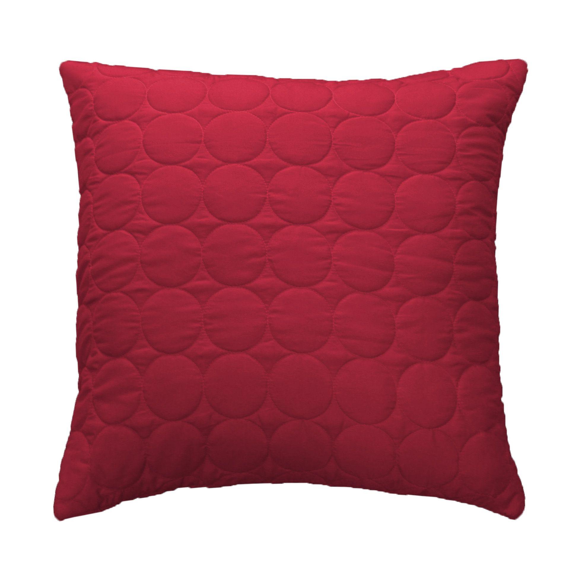 Housse de coussin boutis 40 cm candy rouge coussin et for Housse de coussin rouge
