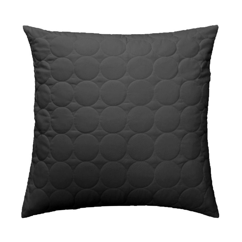 housse de coussin boutis 40 cm candy anthracite. Black Bedroom Furniture Sets. Home Design Ideas