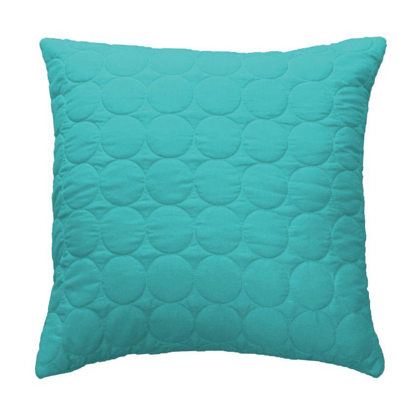 housse de coussin boutis 60 cm candy bleu coussin et housse de coussin eminza. Black Bedroom Furniture Sets. Home Design Ideas