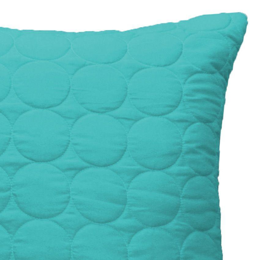 Housse de coussin boutis 60 cm candy bleu housse de coussin eminza for Boutis turquoise