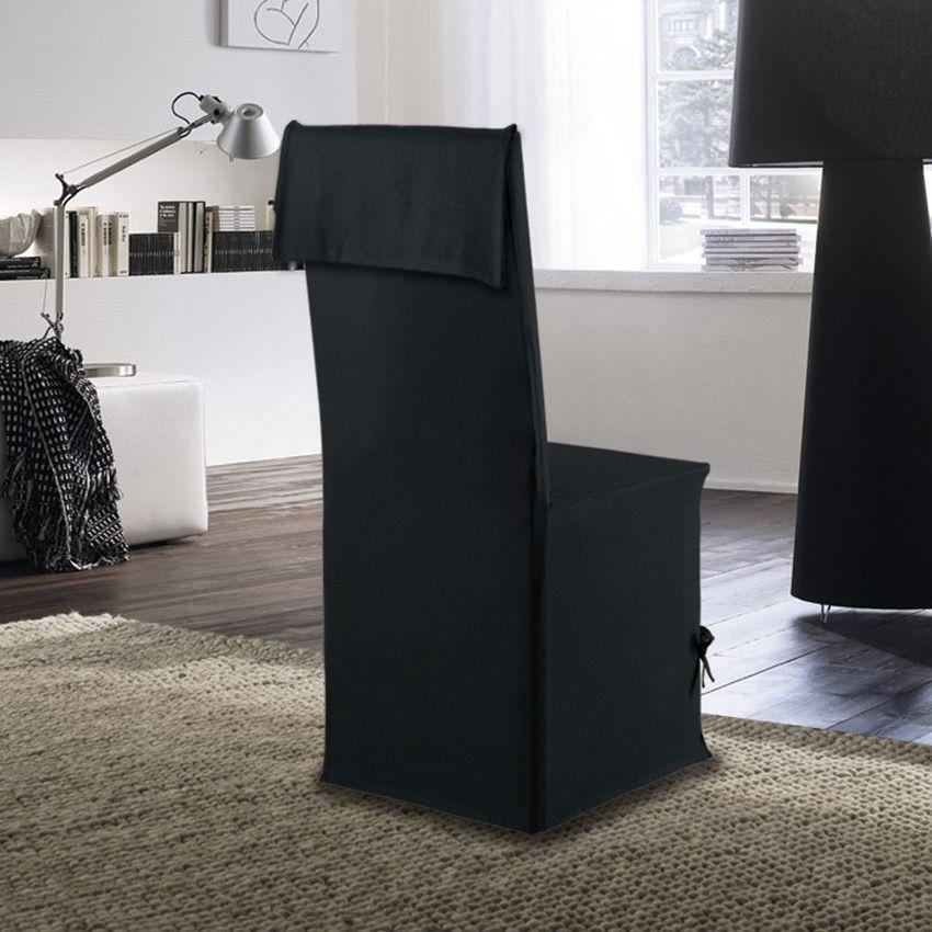 housse de chaise victoria noir housse de chaise eminza. Black Bedroom Furniture Sets. Home Design Ideas