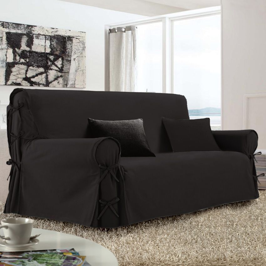 housse canape 3 places avec accoudoir conceptions de. Black Bedroom Furniture Sets. Home Design Ideas