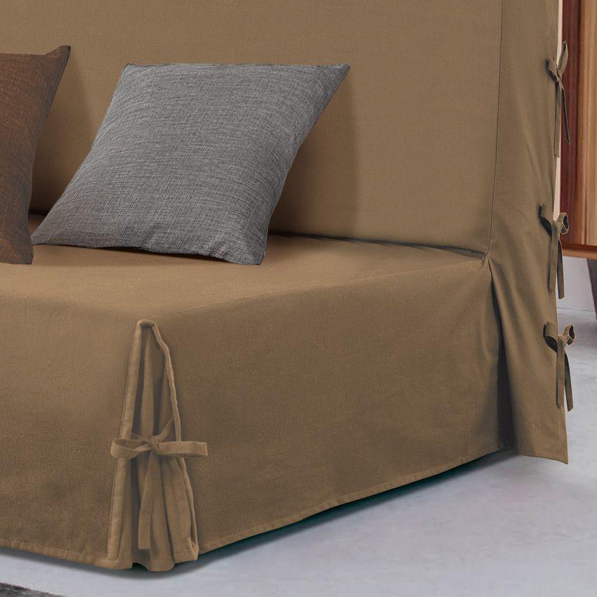 housse de clic clac victoria taupe housse de clic clac bz eminza. Black Bedroom Furniture Sets. Home Design Ideas