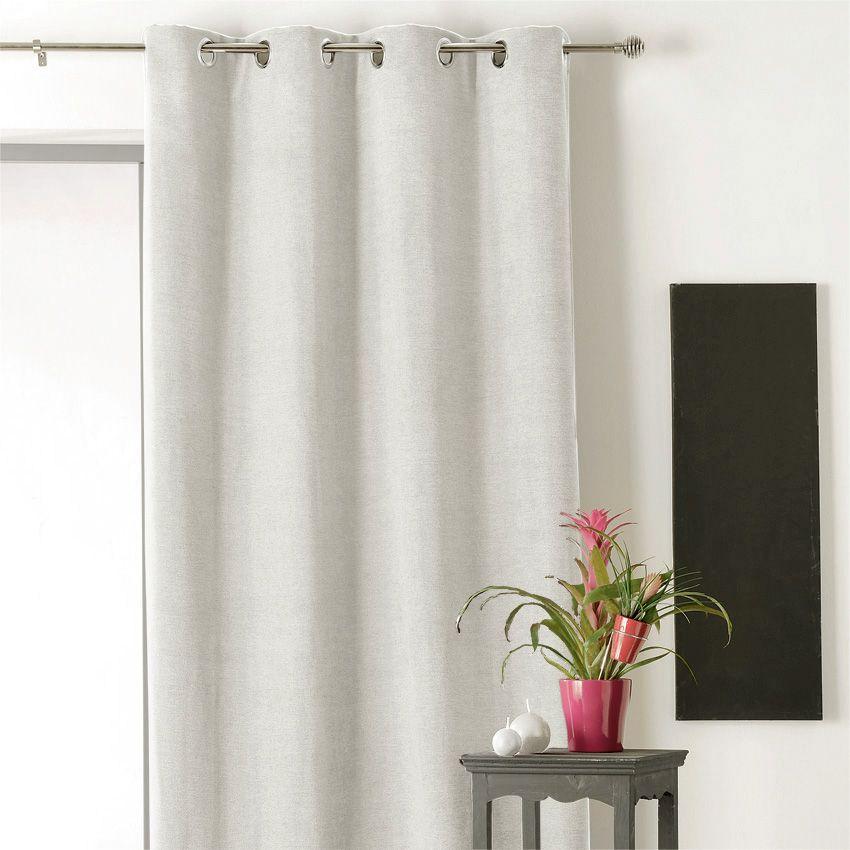 rideau occultant isolant 140 x h260 cm alaska ivoire. Black Bedroom Furniture Sets. Home Design Ideas
