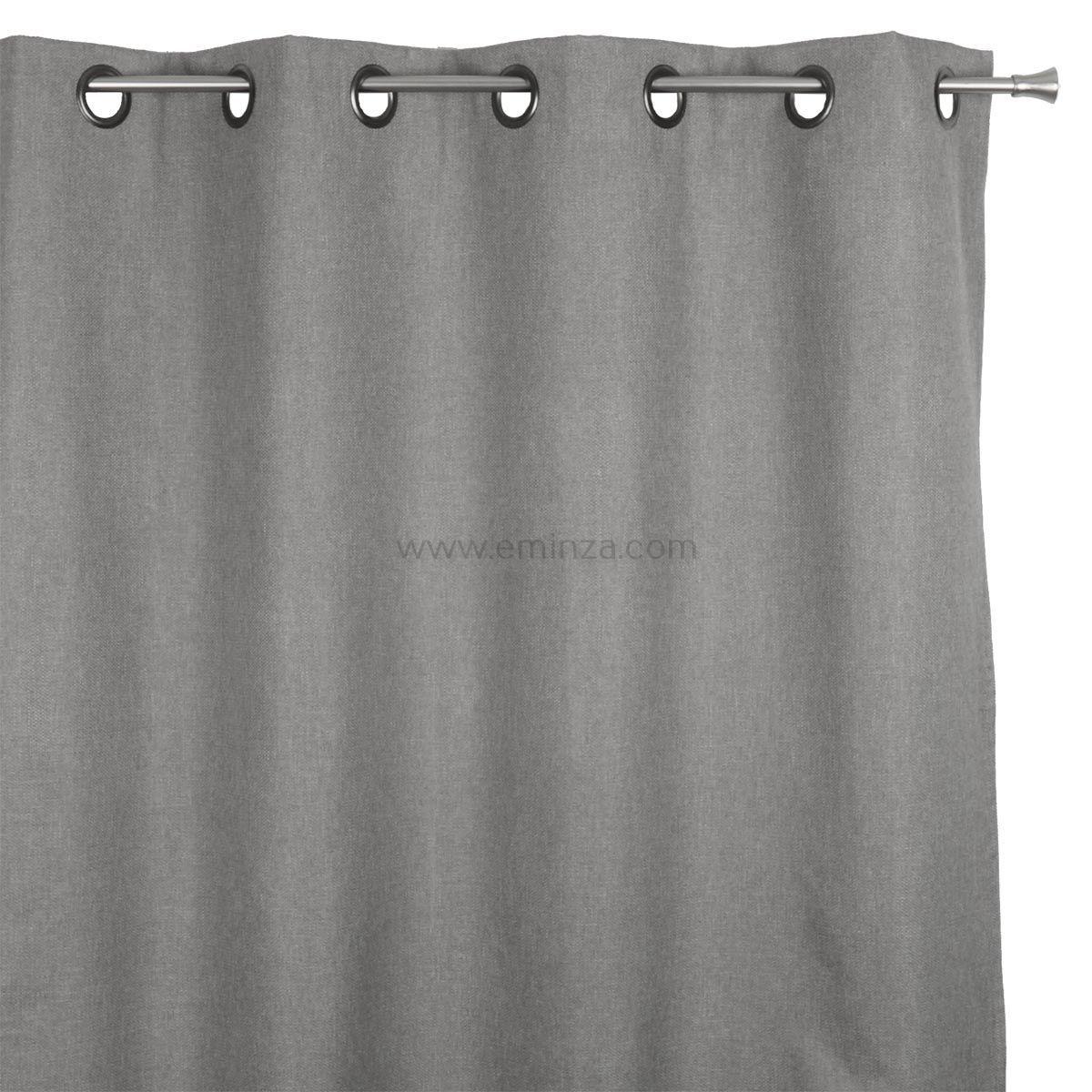 rideau occultant 140 x h240 cm calypso gris rideau occultant eminza. Black Bedroom Furniture Sets. Home Design Ideas