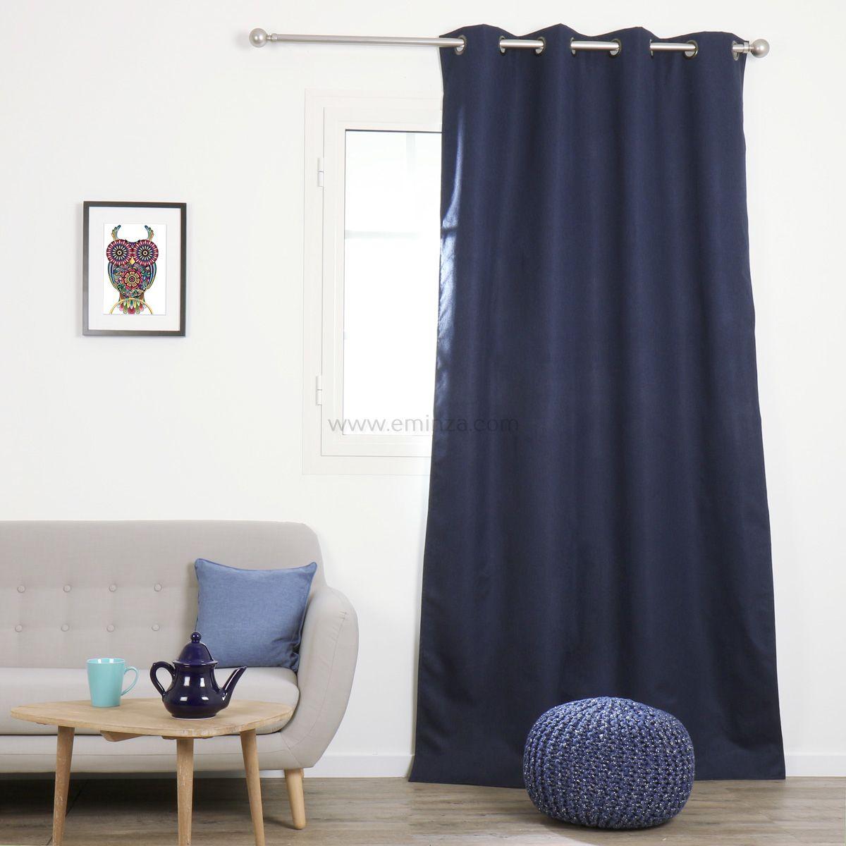 Rideau occultant (140 x h240 cm) calypso bleu roi   rideau ...