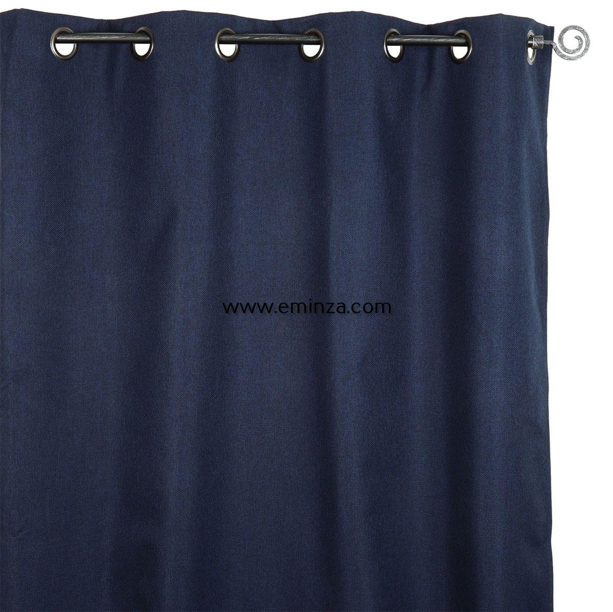 rideau occultant 140 x h240 cm calypso bleu roi rideau occultant eminza. Black Bedroom Furniture Sets. Home Design Ideas