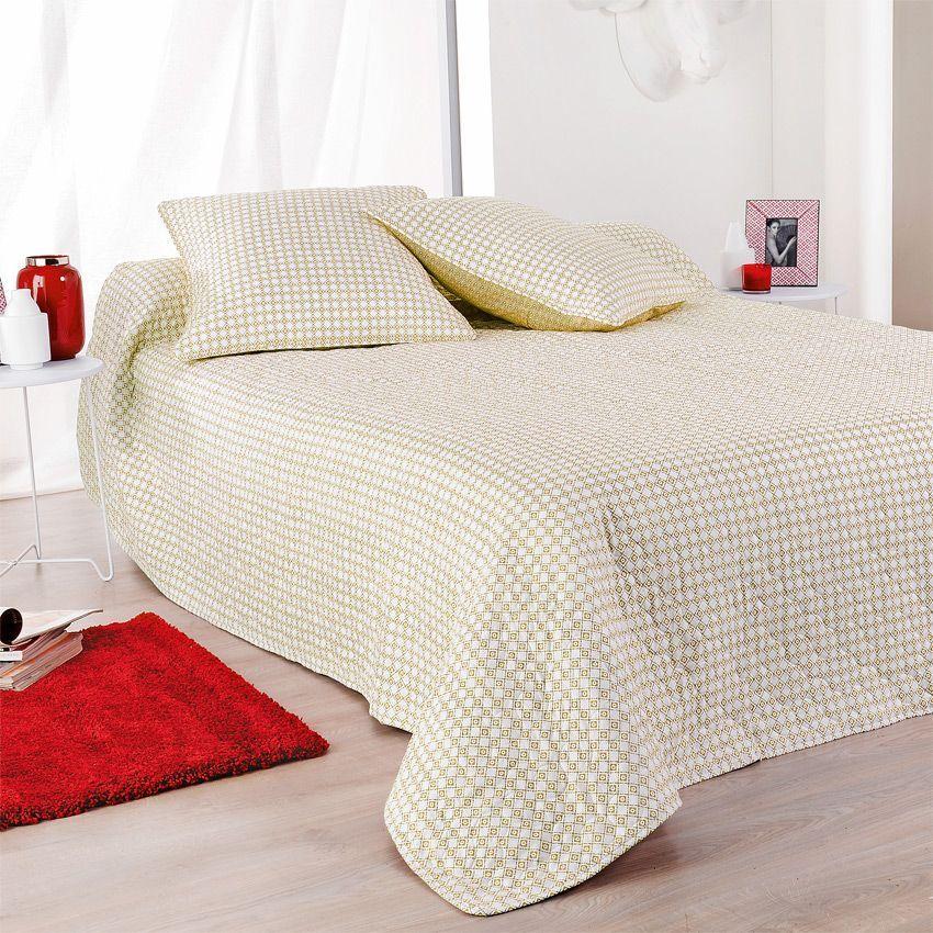 boutis et taie d 39 oreiller 180 x 240 cm alicante orange couvre lit boutis eminza. Black Bedroom Furniture Sets. Home Design Ideas