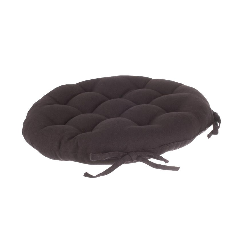 coussin de chaise ronde lina aubergine galette et. Black Bedroom Furniture Sets. Home Design Ideas