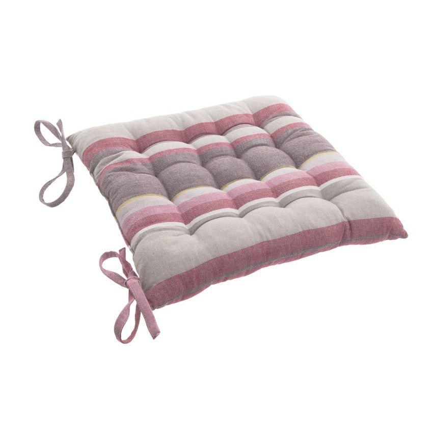 Coussin de chaise rayure rose galette et coussin de - Cousin de chaise ...