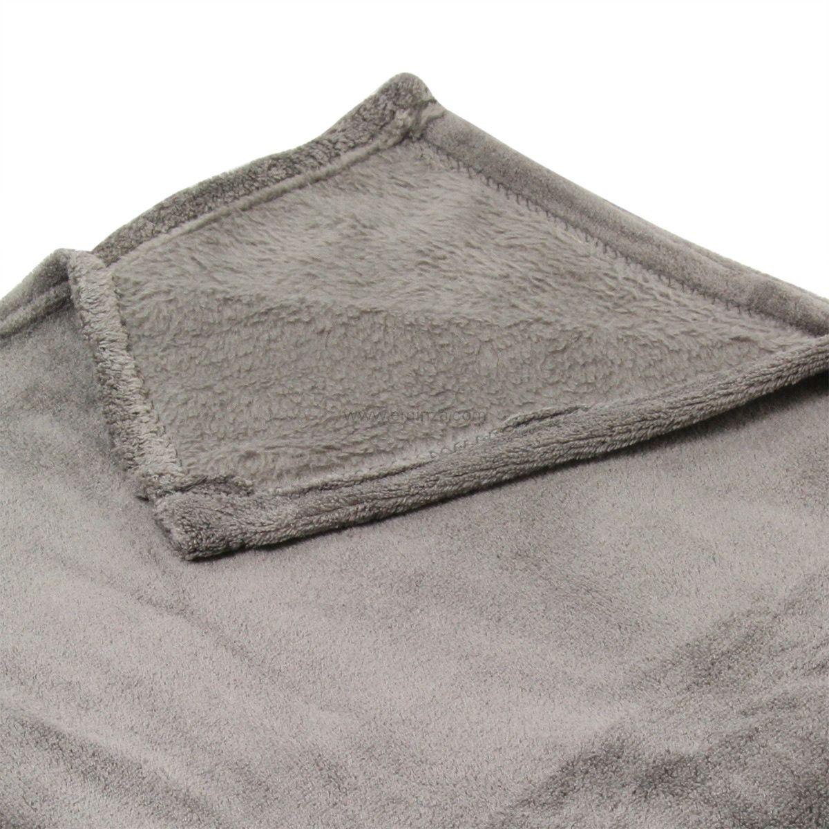 plaid polaire 180 cm tendresse gris plaid cocooning. Black Bedroom Furniture Sets. Home Design Ideas