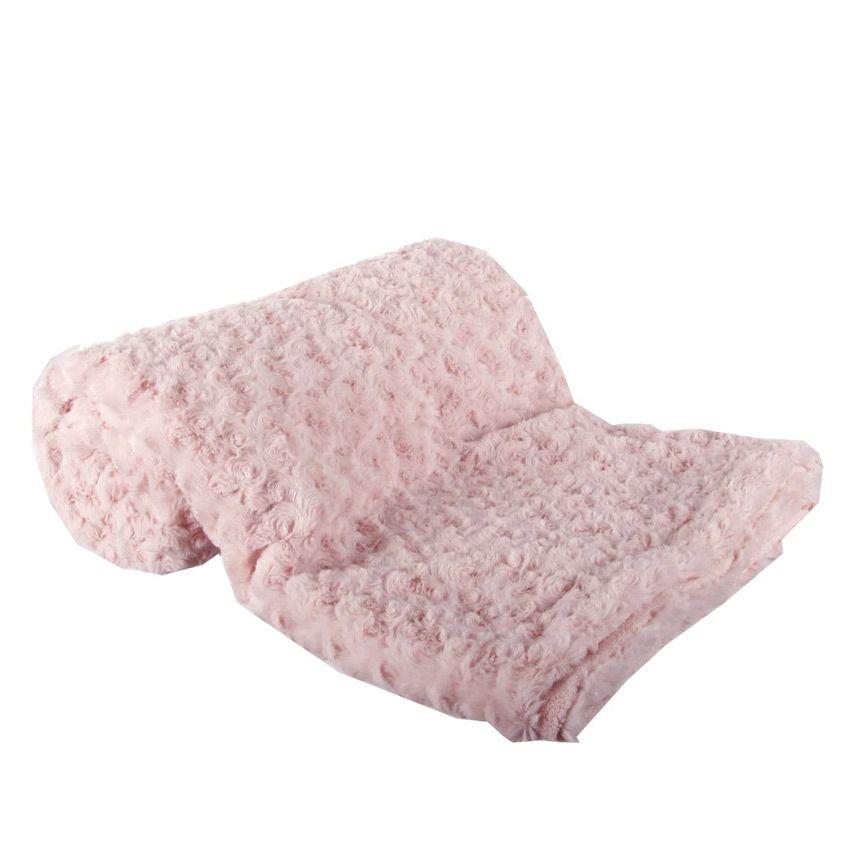 grand plaid 230 cm doux jolie boucle rose plaid. Black Bedroom Furniture Sets. Home Design Ideas