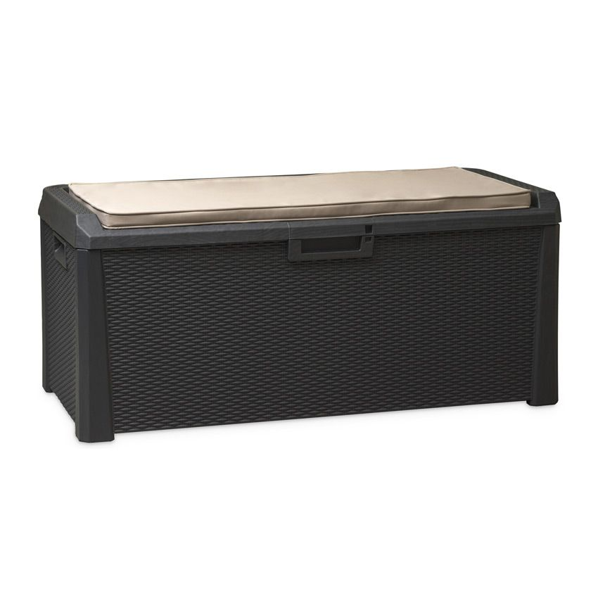 coffre de rangement santorini anthracite petit. Black Bedroom Furniture Sets. Home Design Ideas
