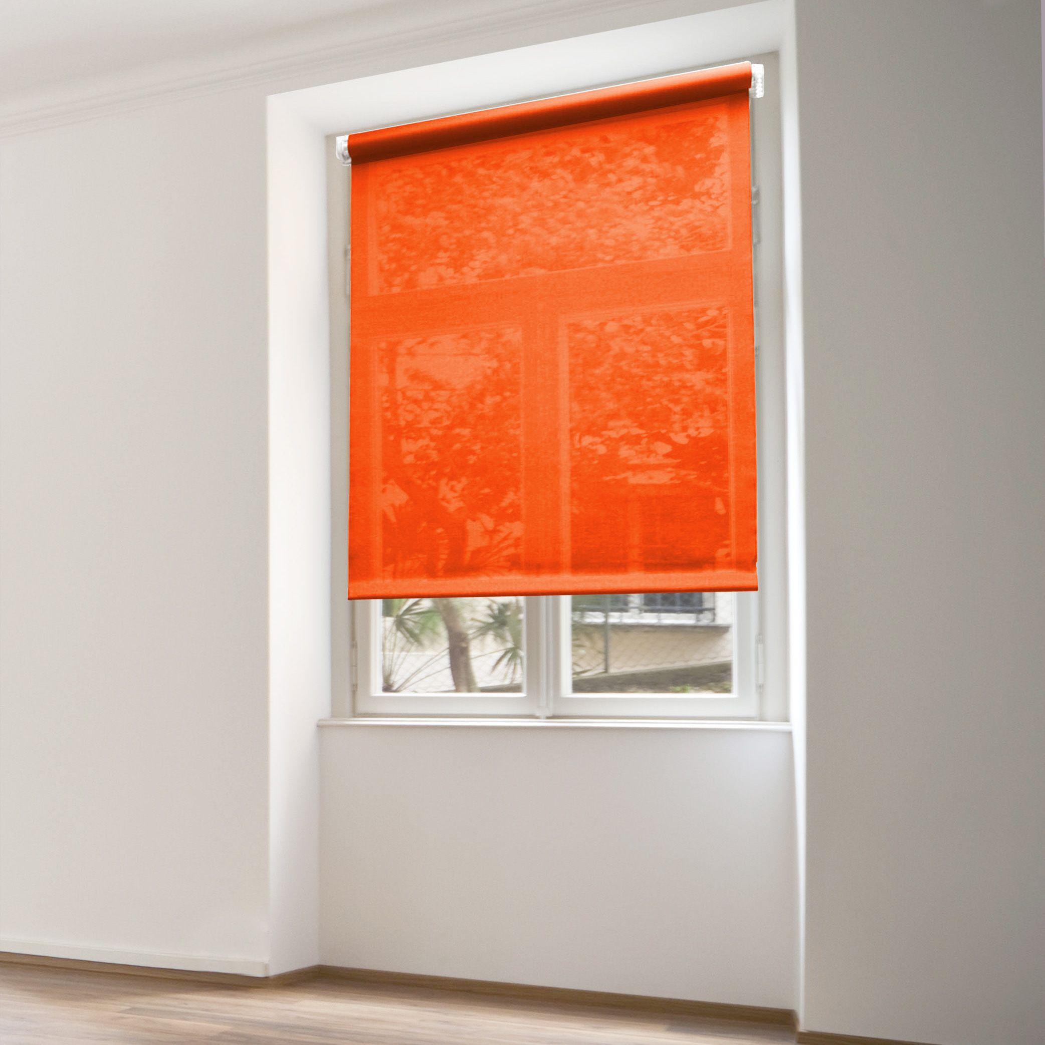 store enrouleur tamisant 45 x h180 cm uni orange store enrouleur eminza. Black Bedroom Furniture Sets. Home Design Ideas