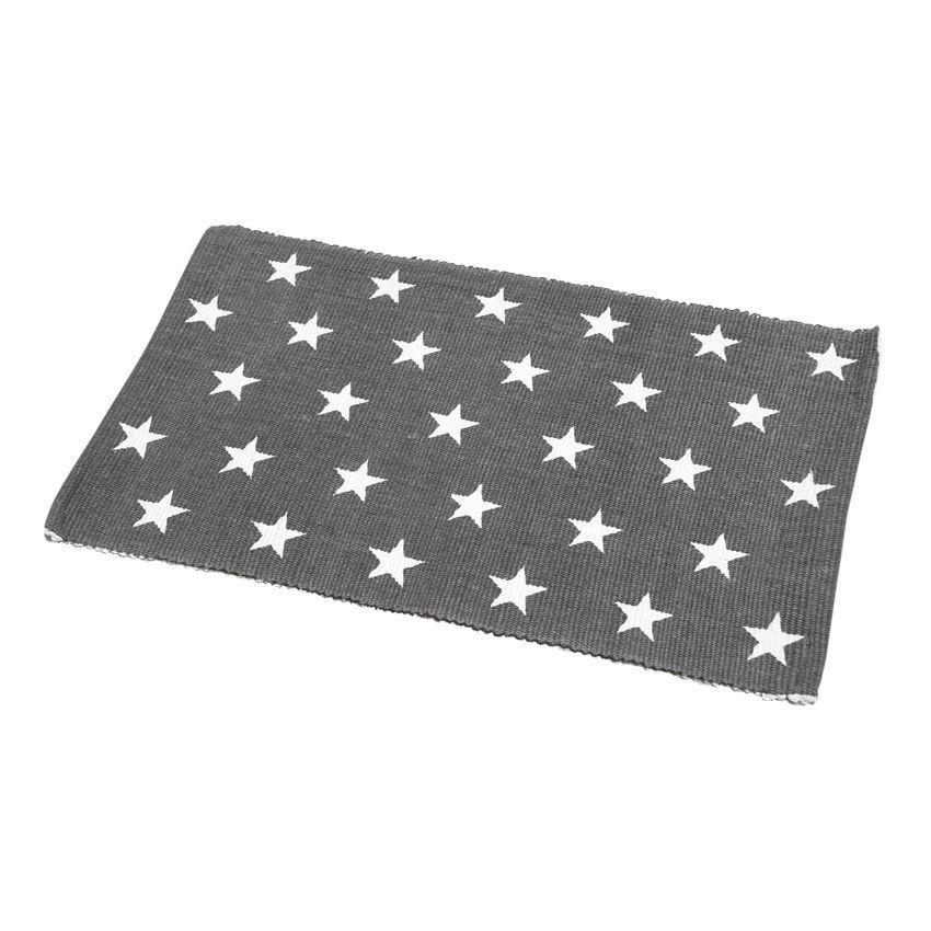 Tapis de bain etoiles gris tapis salle de bain eminza - Tapis etoile gris ...