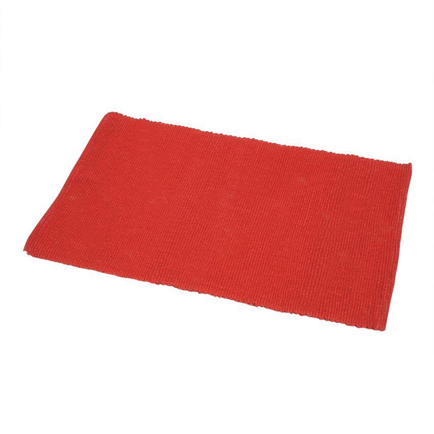 tapis de bain coton rouge tapis salle de bain eminza. Black Bedroom Furniture Sets. Home Design Ideas