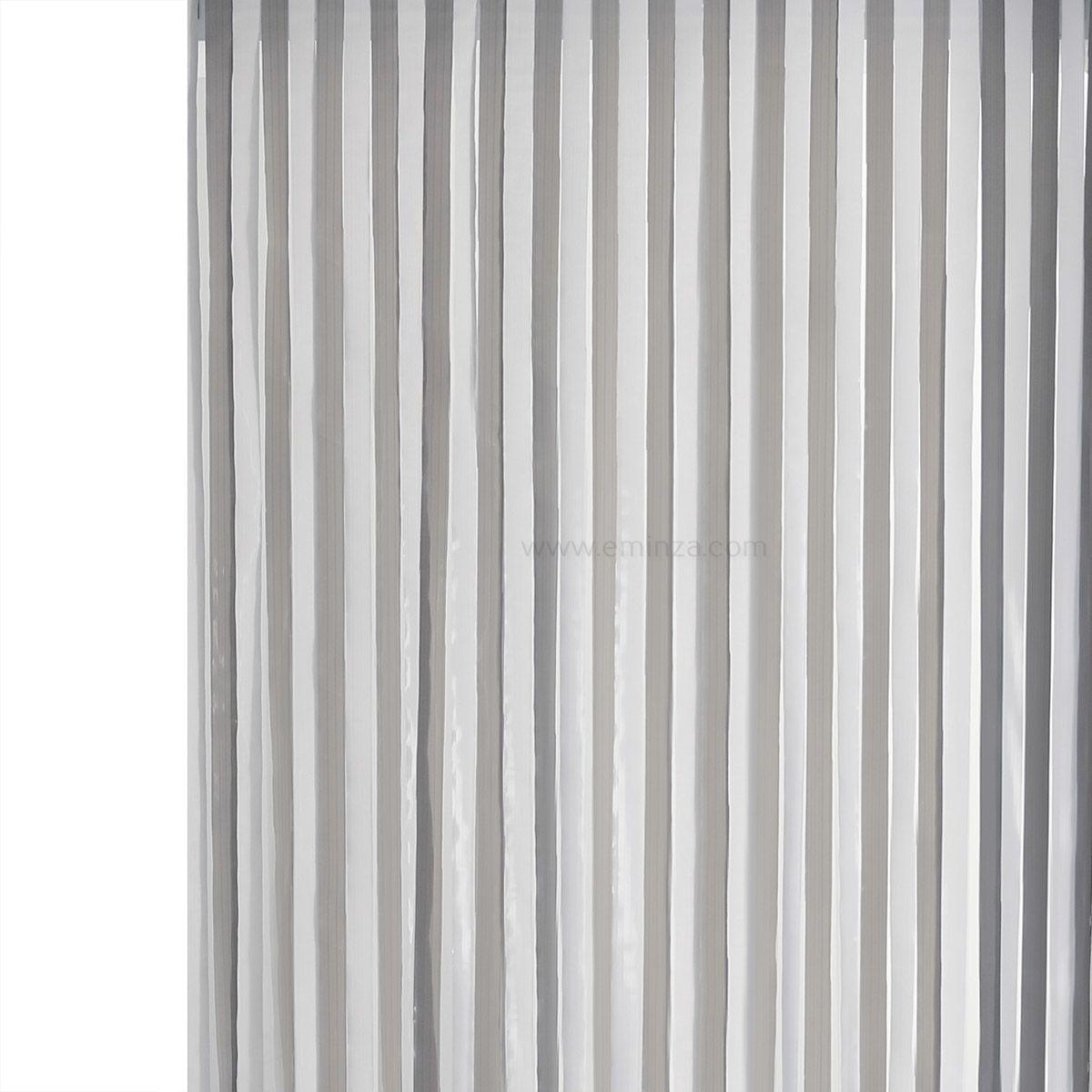 rideau de porte 90 x h220 cm lani res pvc gris rideau. Black Bedroom Furniture Sets. Home Design Ideas