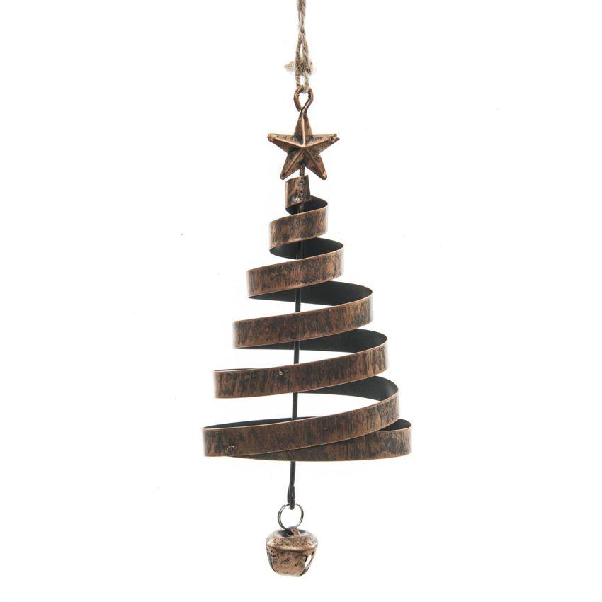 sapin de no l spirale cuivre d coration suspendre eminza. Black Bedroom Furniture Sets. Home Design Ideas