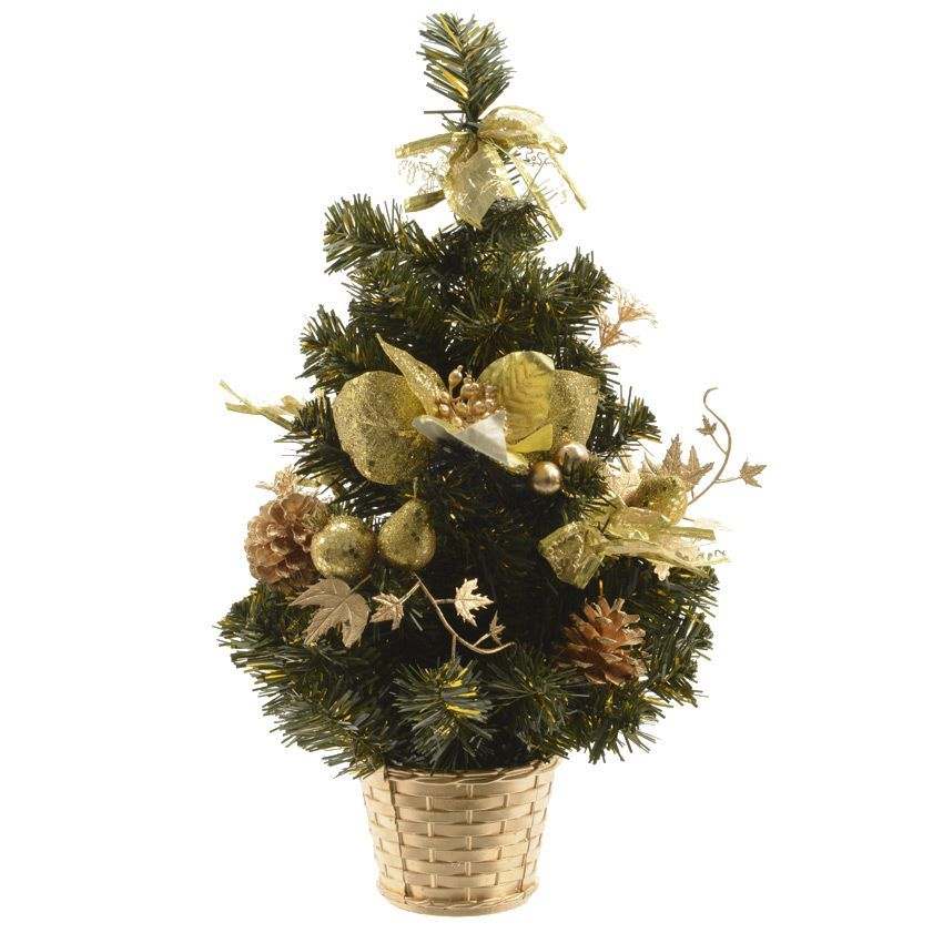 Sapin artificiel de table d cor d cor h40 cm or sapin - Sapin artificiel decore ...