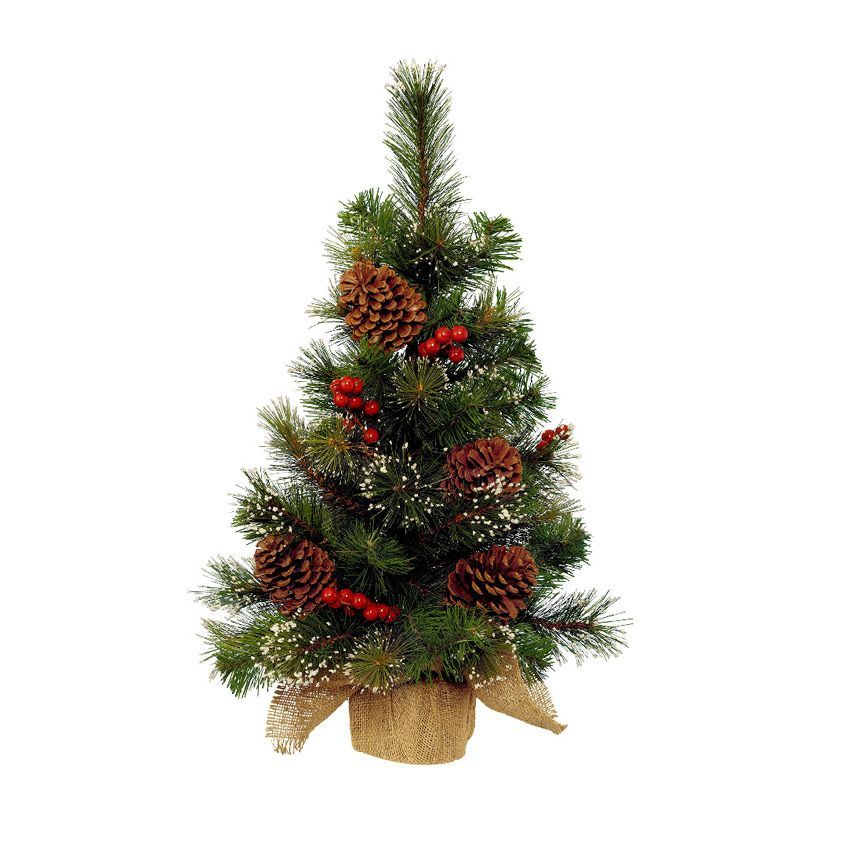 Sapin Artificiel De Table Pomme De Pin H40 Cm Vert Enneig Sapin De Table Eminza