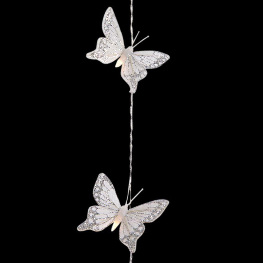guirlande lumineuse papillon doux blanc chaud 20 led guirlande lumineuse eminza. Black Bedroom Furniture Sets. Home Design Ideas