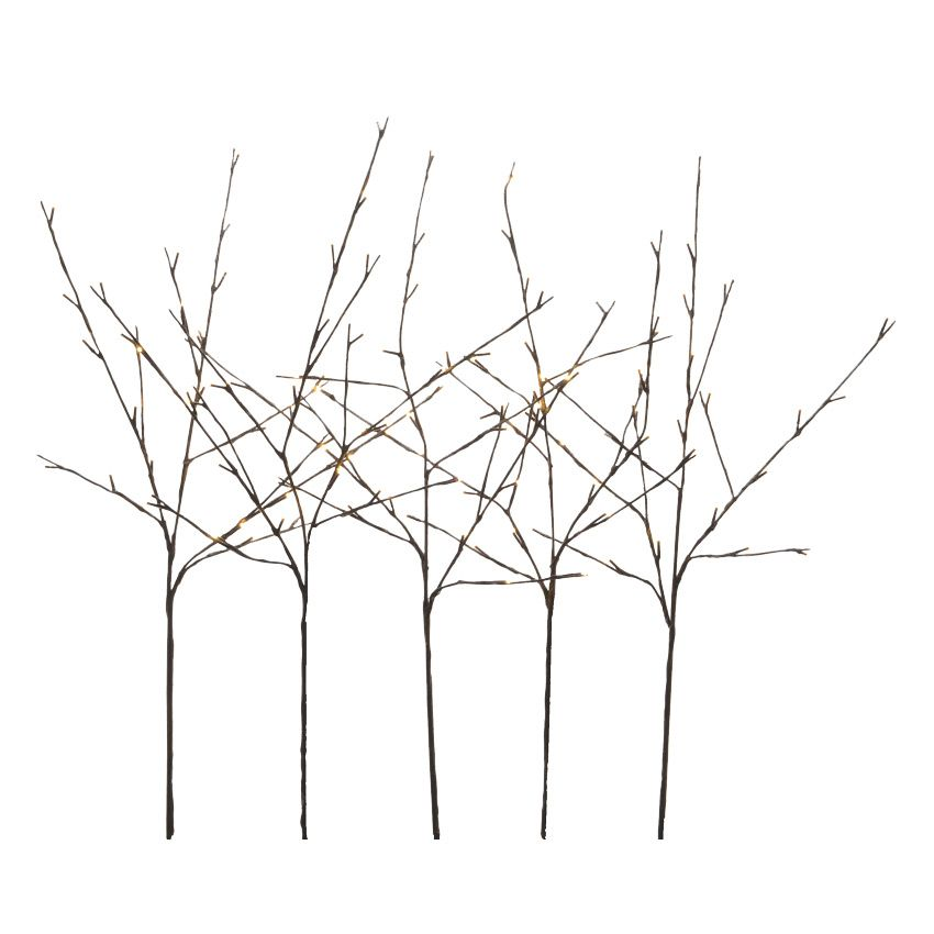 lot de 5 branches lumineuses abigail 120 led blanc chaud fleur et branche d 39 hiver eminza. Black Bedroom Furniture Sets. Home Design Ideas