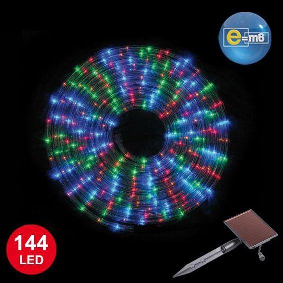 tube lumineux solaire 6 m multicouleur 144 led guirlande lumineuse eminza. Black Bedroom Furniture Sets. Home Design Ideas