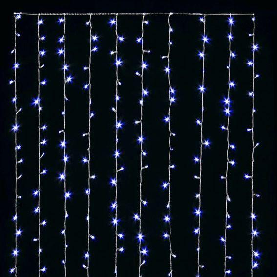 rideau lumineux h1 20 m bleu 288 led guirlande lumineuse eminza. Black Bedroom Furniture Sets. Home Design Ideas