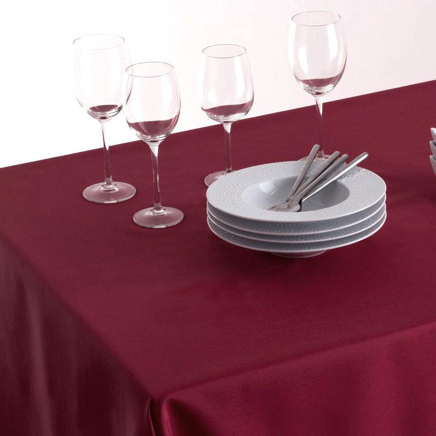 nappe carr e 150 cm lina bordeaux nappe de table eminza. Black Bedroom Furniture Sets. Home Design Ideas