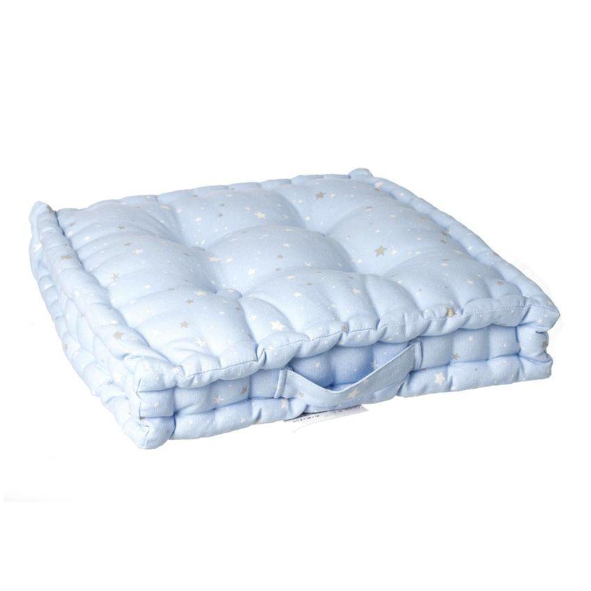 coussin de sol nuit d 39 toiles bleu coussin de sol et pouf eminza. Black Bedroom Furniture Sets. Home Design Ideas