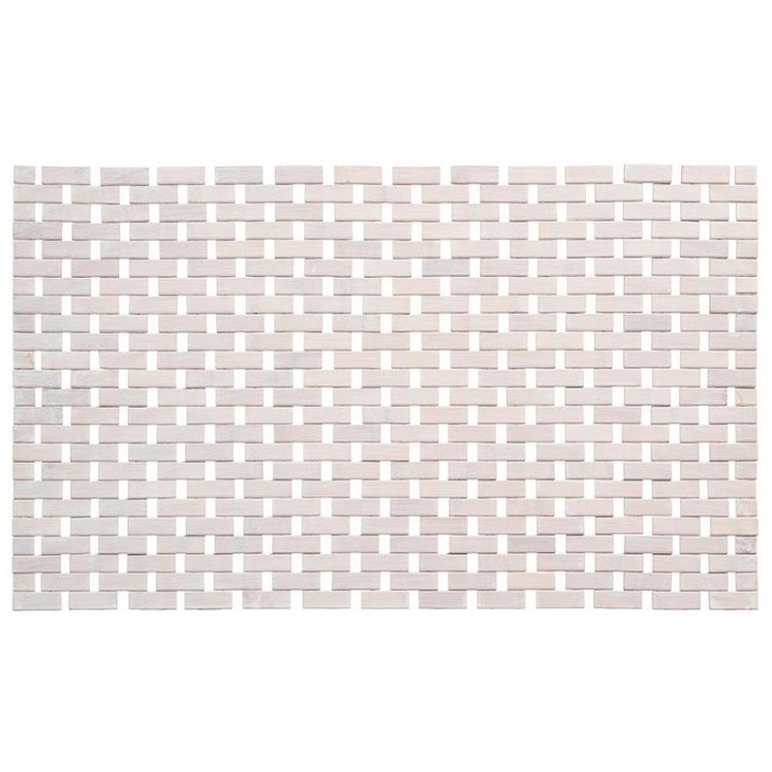 tapis effet bois 80 cm bambou blanchi tapis bambou eminza. Black Bedroom Furniture Sets. Home Design Ideas