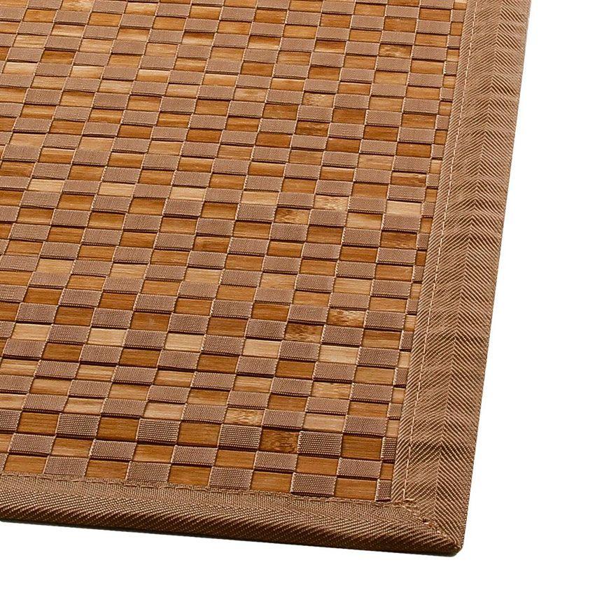 tapis bambou 170 cm damier naturel tapis pour la maison eminza. Black Bedroom Furniture Sets. Home Design Ideas