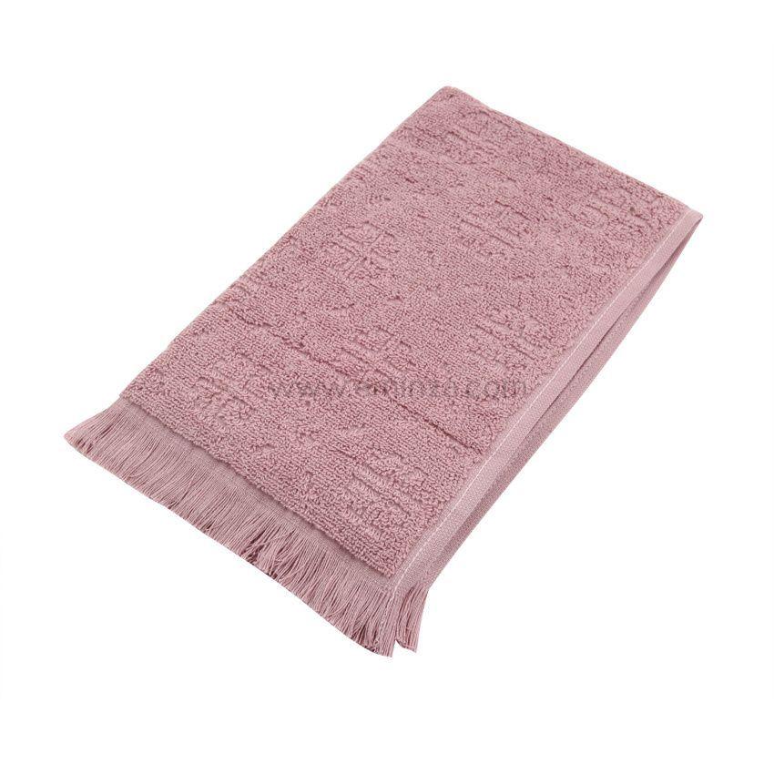 serviette de bain 50 x 90 cm cisele rose serviette de bain eminza. Black Bedroom Furniture Sets. Home Design Ideas