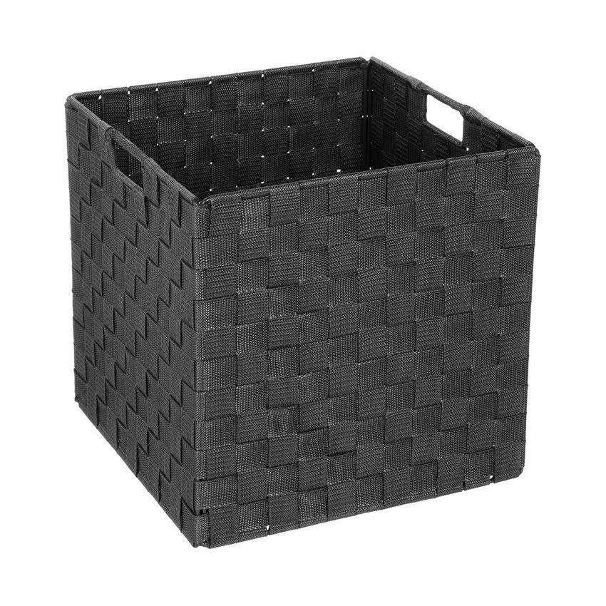 panier de rangement pliant noir panier d co eminza. Black Bedroom Furniture Sets. Home Design Ideas