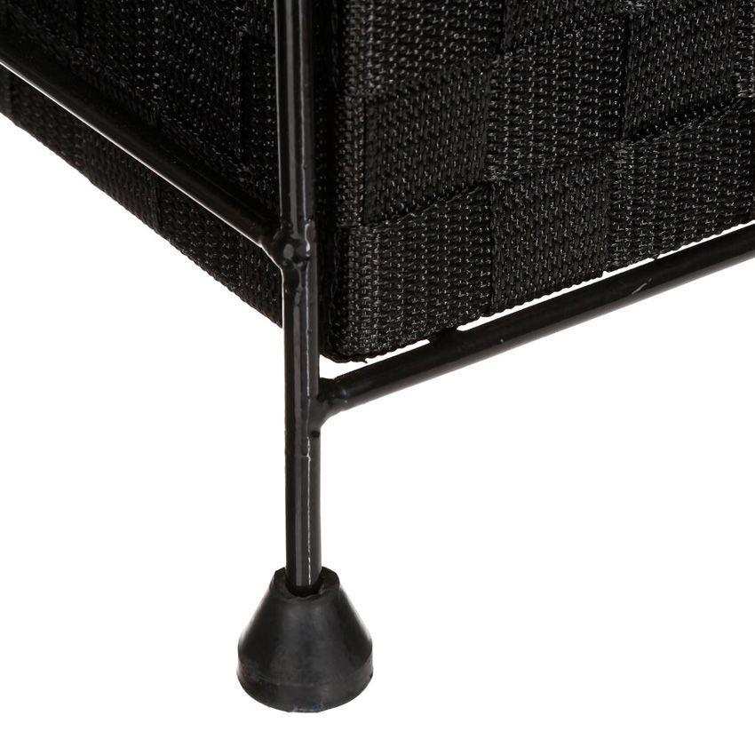 Meuble rangement 6 paniers noir meuble bas eminza for Meuble a bas prix montreal