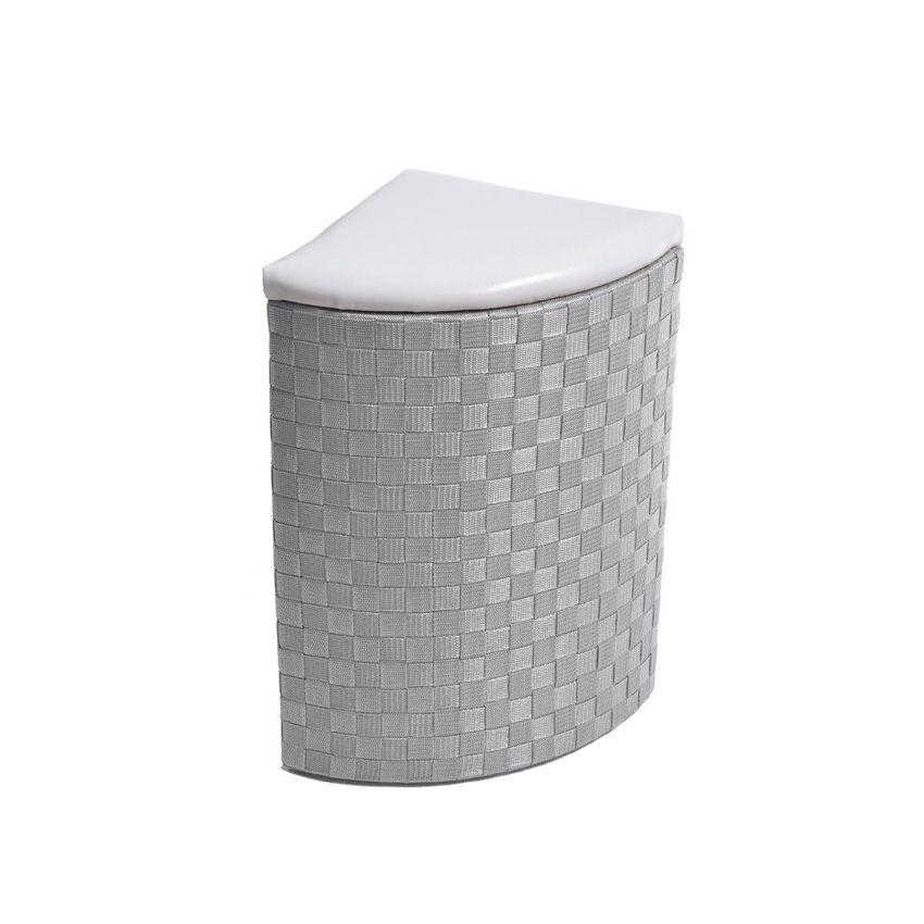 lot de 2 paniers linge d 39 angle gris panier linge eminza. Black Bedroom Furniture Sets. Home Design Ideas