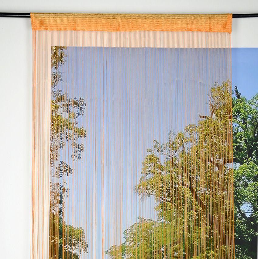 Rideau de fil 90 x h200 cm mah orange rideau et - Rideau de fil ...
