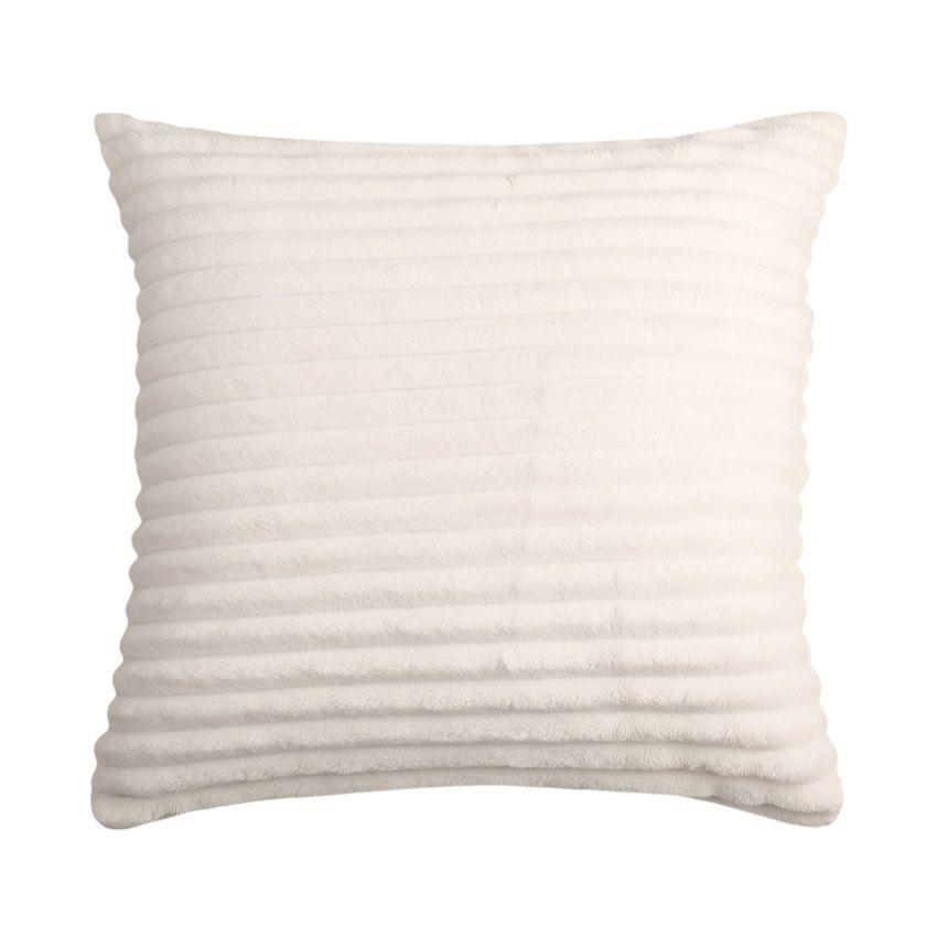 housse de coussin 40 cm popy blanc coussin et housse de coussin eminza. Black Bedroom Furniture Sets. Home Design Ideas