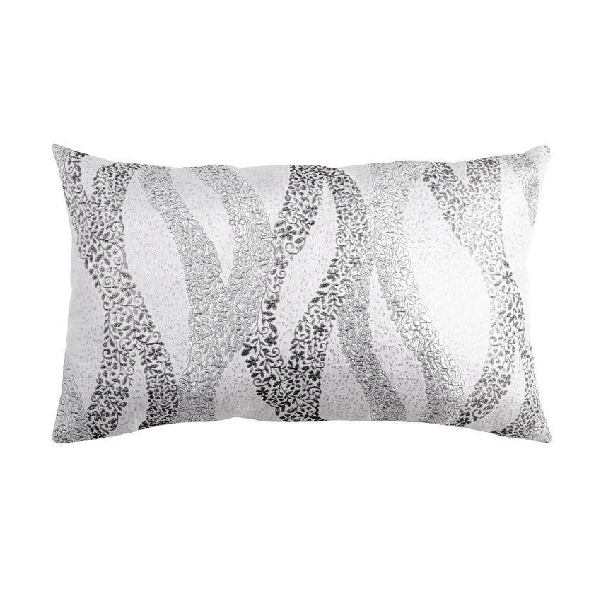 coussin rectangulaire wave gris coussin eminza. Black Bedroom Furniture Sets. Home Design Ideas