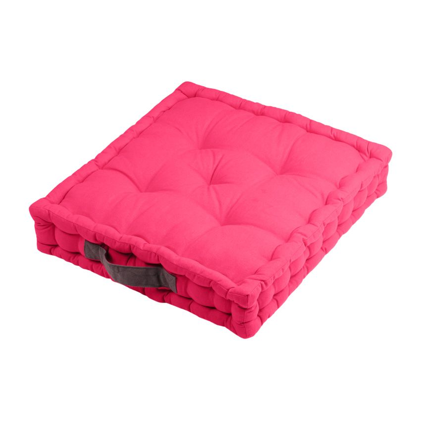 coussin de sol duo fuchsia coussin de sol et pouf eminza. Black Bedroom Furniture Sets. Home Design Ideas