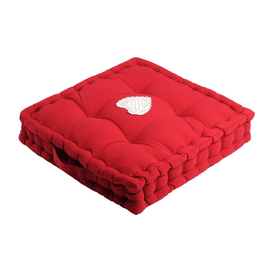coussin de sol verone rouge coussin de sol et pouf eminza. Black Bedroom Furniture Sets. Home Design Ideas