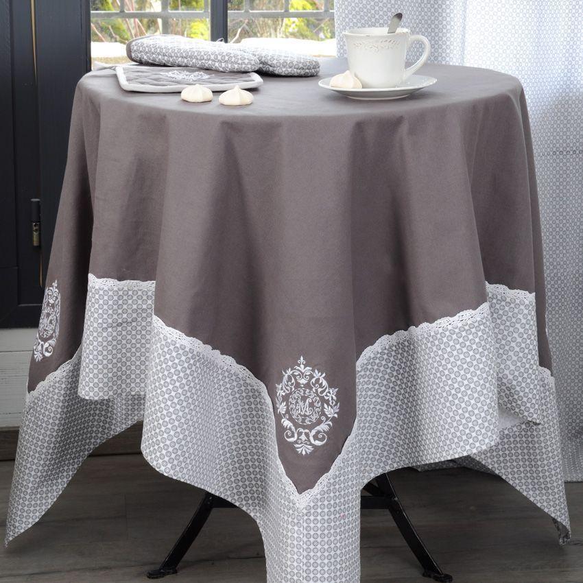 Nappe rectangulaire l250 cm meline nappe de table eminza - Nappe table rectangulaire ...