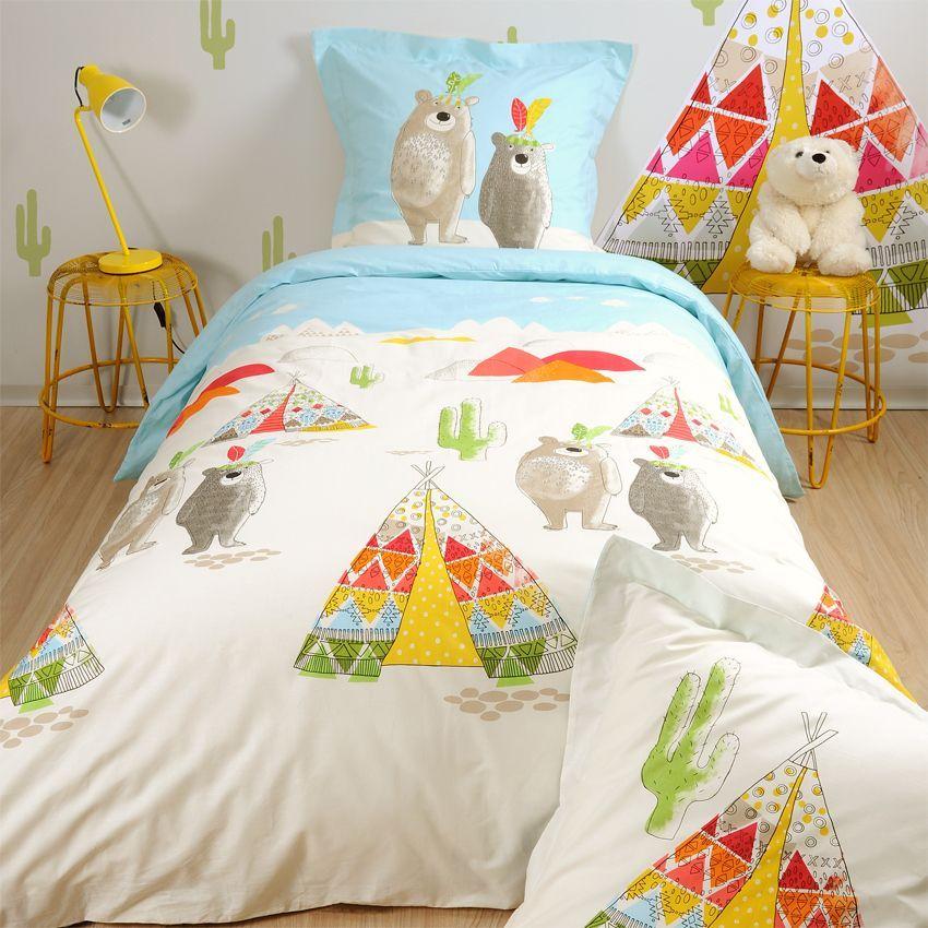 housse de couette et deux taies 200 cm tipi housse de couette eminza. Black Bedroom Furniture Sets. Home Design Ideas