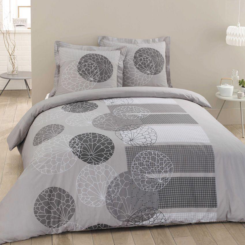 housse de couette et deux taies 240 cm ad le gris housse de couette eminza. Black Bedroom Furniture Sets. Home Design Ideas