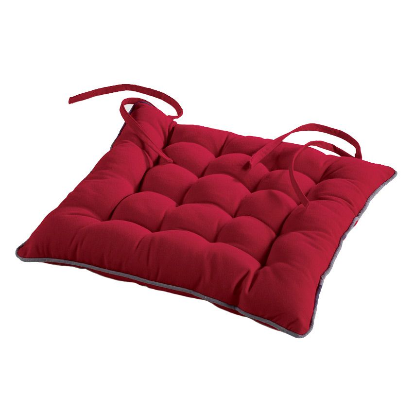 coussin de chaise id ale rouge galette et coussin de chaise eminza. Black Bedroom Furniture Sets. Home Design Ideas