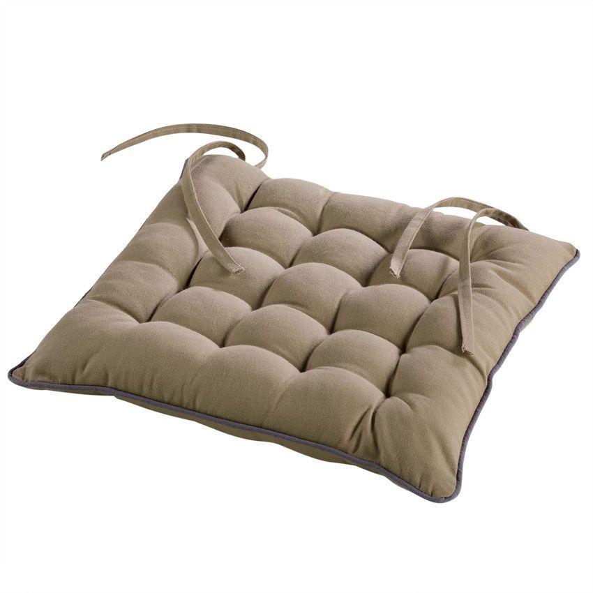 Coussin de chaise id ale taupe galette et coussin de for Galette de chaise taupe