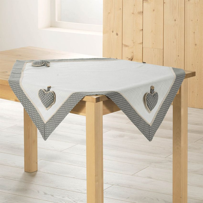 nappe carr e fanny gris nappe de table eminza. Black Bedroom Furniture Sets. Home Design Ideas