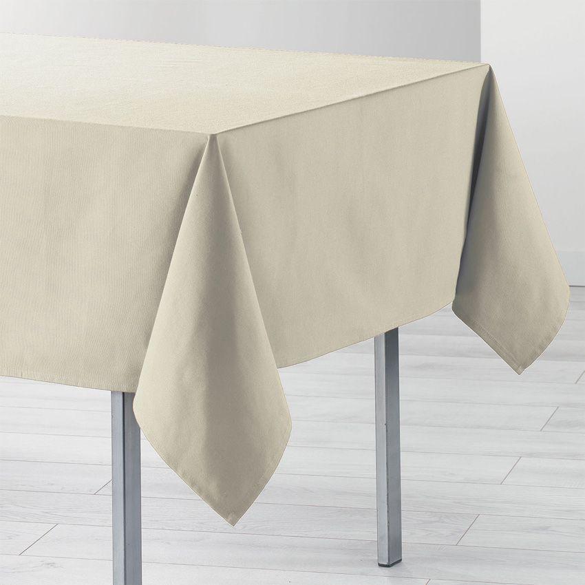 Nappe rectangulaire l240 cm id ale ecru nappe de table eminza - Nappe de table rectangulaire ...