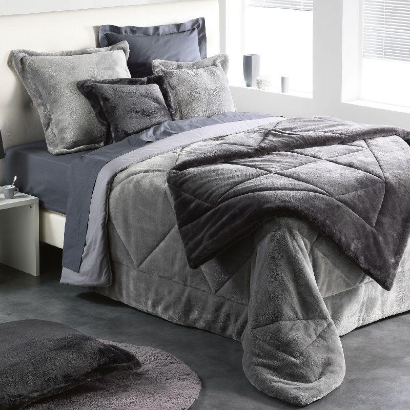 housse de coussin 60 cm sweet night gris coussin et galette eminza. Black Bedroom Furniture Sets. Home Design Ideas