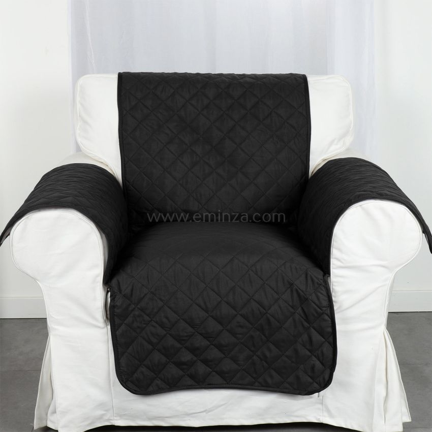prot ge fauteuil club noir housse de fauteuil eminza. Black Bedroom Furniture Sets. Home Design Ideas